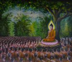 Buddha teaching his followers