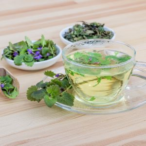 Infusion method for herbal teas involve the softer parts of the plant